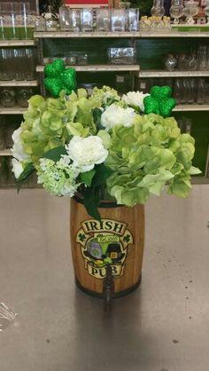 St. Patrick's day Irish, green hydrangeas and shamrocks