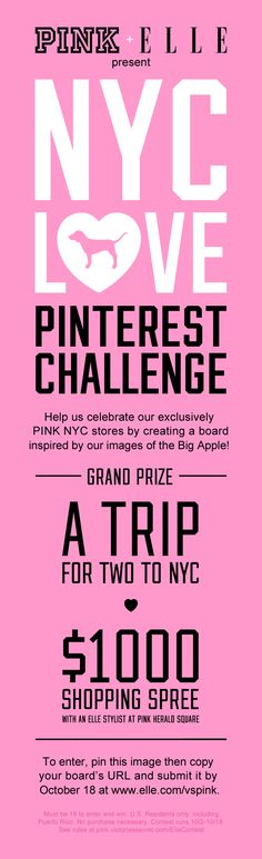 Don't forget to pin me! #VSPINK #NYCLove