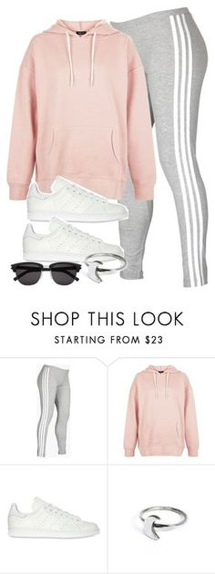 """""""Untitled #11833"""" by vany-alvarado ❤ liked on Polyvore featuring adidas, New Look, adidas Originals, Holly Ryan and Yves Saint Laurent"""