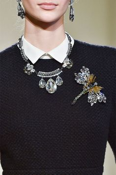 This Hot New Jewelry Trend Is Actually Really Old: For years, the brooch has felt a bit stodgy, co-opted by well-meaning grandmothers and relegated to the catchall bins at neighborhood flea markets. I Love Jewelry, Statement Jewelry, Boho Jewelry, Gemstone Jewelry, Silver Jewelry, Vintage Jewelry, Jewelry Accessories, Fashion Accessories, Jewelry Design