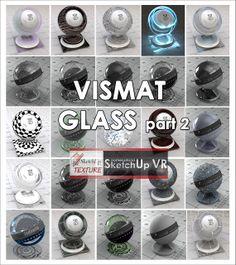 SKETCHUP TEXTURE: GLASS VISMAT  VRAY FOR SKETCHUP PART.2