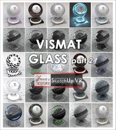 SKETCHUP TEXTURE: GLASS VISMAT  VRAY FOR SKETCHUP PART.2