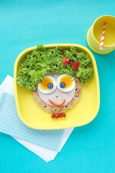 Fun toddler meals on Re-Play Recycled toddler dishes.