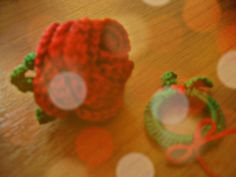 rose and christmas wreath crochet