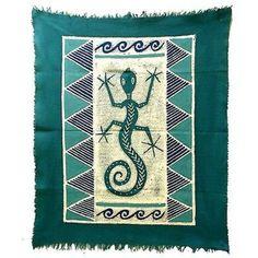 Gecko Batik in Three Blues - Tonga Textiles
