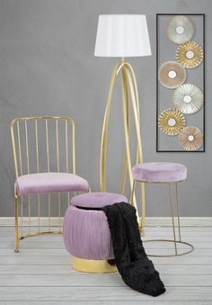 #homedecor #interiordesign #decoration #Design #pink #velvet #homedecor #interiordesign #decoration #design Pink Ring, Interior Design, Chair, Metal, Decoration Design, Inspiration, Pink Velvet, Furniture, Glamour