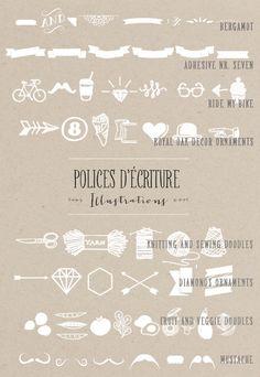 Polices d ecriture - illustrations - Mariage - La mariee aux pieds nus