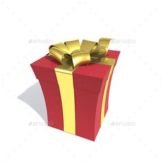 3D Gift Box — TIFF Image #celebration #ribbon • Available here → https://graphicriver.net/item/3d-gift-box/17739800?ref=pxcr
