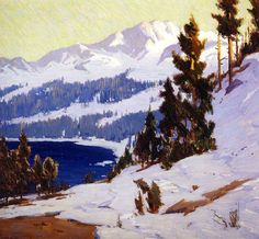 """Convict Lake"" by William Wendt"