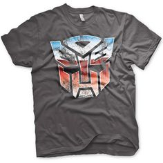 0793d3b5 Transformers Mens T Shirt - Distressed Autobot Shield from 8Ball.co.uk  Transformers T