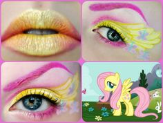 Fluttershy makeup for My Little Pony