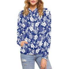 """Sweat """"Hibiscus"""" Sweat Shirt, Unique Hoodies, Vegan Clothing, Size Model, Hibiscus, Floral Tops, Creations, Blouse, Long Sleeve"""