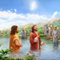 Jesus' Baptism in the River Jordan Bible Photos, Bible Images, Bible Pictures, Life Of Jesus Christ, Pictures Of Jesus Christ, Jesus Lives, King Jesus, Jesus Is Lord, Jesus Is My Friend