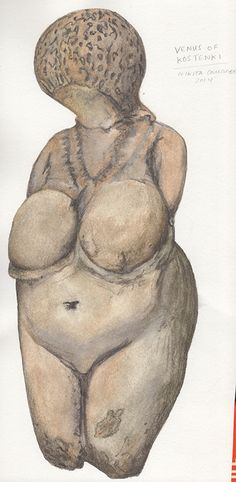 #VenusOfKostenki #FertilityFigure painted by #NikitaCoulombe