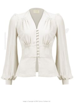 perfect blouse.  I love the feminine silhouette and the fact that it doesn't have a collar