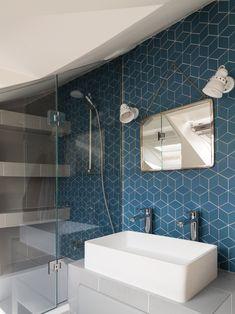 Petits Losanges X Normandy Ceramics Projet Modern Bathroom Design, Bathroom Interior, Bathroom Ideas, Asian Decor, Hospitality Design, Entryway Decor, Designer, Diy Home Decor, Home Goods