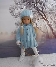 NEW HAND KNITTED  OUTFIT FOR SASHA  DOLL . *Snowflakes*