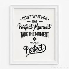 Motivational Typography Wall Art Print. Starting Price $9.90 at VocaPrints.com - #motivational #typography #typographic #wallart #homedecor