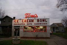 The Legendary Tom's Ice Cream Bowl On McIntire Avenue.