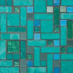 turquoise and silver mosaic bathroom tile - Google Search