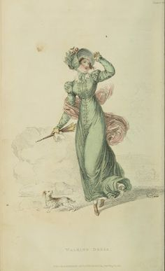 Out walking with the dog. Ackermann's repository, 1822.