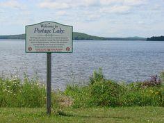 Portage Lake, ME : Portage Lake public beach