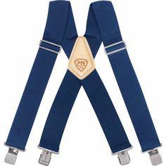 McGuire-Nicholas Navy Suspenders, Men's, Blue