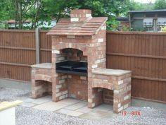 Diy outdoor grill ideas garden ideas on bricks raised beds and brick build outdoor grill Brick Built Bbq, Brick Grill, Built In Grill, Outdoor Barbeque, Barbecue Pit, Bbq Chimney, Barbecue Design, Diy Grill, Bbq Diy