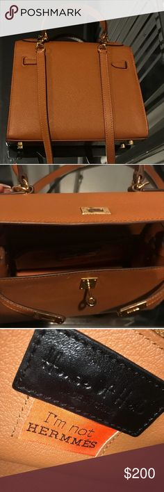 """House of Hello Kelly Bag Only flaw is small rip on handle Popular Hong Kong brand known for the """"I'm not Hermès"""" slogan house of hello Bags Mini Bags"""
