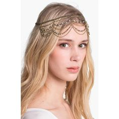 Orion 'Empress' Chain Head Wrap ($24) found on Polyvore