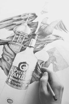 Russian Standard Vodka / Artform Campaign by Mitchell Nelson, via Behance