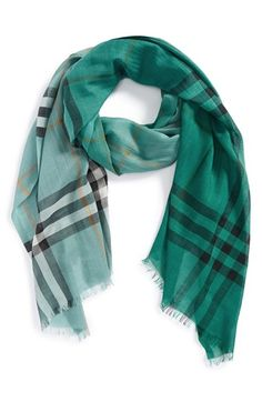 Burberry 'ombré check' wool and silk scarf http://rstyle.me/n/vt4mrr9te