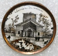 1780s French glass button.