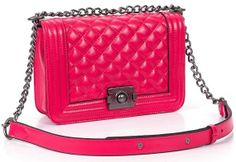 rose Quilting style soft genuine leather chain tote by starbag, $58.77