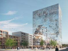 MVRDV's Latest Building Nearly Disappears During Daylight