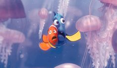 FEATURED IMAGE Dory and Marlin Hug Surrounded by Jellyfish in Finding Nemo