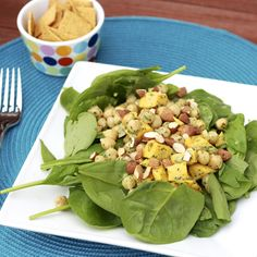 Chickpea Mango Spinach Salad from The Sweets Life.