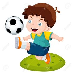 Chile National Jersey Cartoon Soccer Player  Kids Clip Art