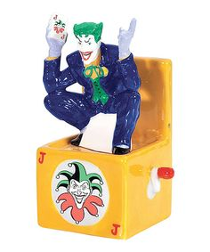 Look at this Joker in a Box Salt & Pepper Shakers on #zulily today!