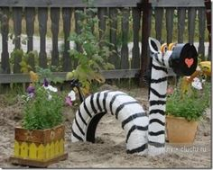 use old tires for this Zebra, and see other animals http://www.pinterestbest.net/Red-Lobster-Gift-Card