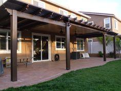 Combination Solid and Open Lattice Alumawood Patio Cover - Menifee, CA
