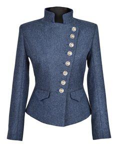 Lieutenant Jacket (Prussian-Blue tweed)