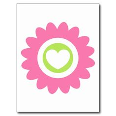 Valentine Flower Heart Postcard