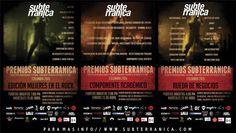 Premios Subterránica Colombia 2015 Edición Mujeres en el Rock