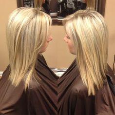 Heavy platinum blonde and honey highlights. #hairbykimberlyboshold
