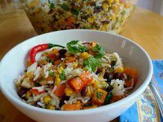 chacha's gluten free kitchen: Fiesta Chicken & Rice Salad
