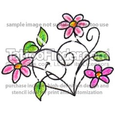 Image detail for -TattooFinder.com : Daisy Heart tattoo design by Tee Jay