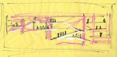 stair / escalier,  Giorgio Armani,  esquisse / sketch