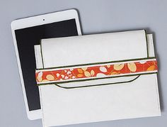 eReader Case made with kraft•tex™ white Kraft Paper Fabric   by C&T Publishing