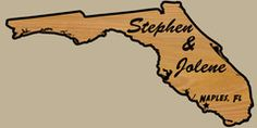 Customized Name Sign the shape of Florida. Can do any state!